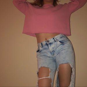 Vintage 90's Pink Crop Top